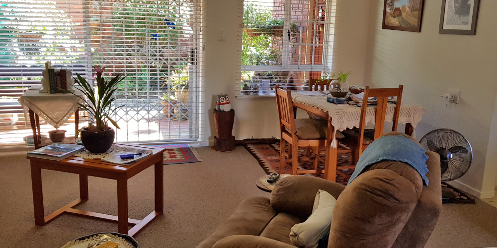 Dining room and Lounge -1 Bedroom House Bergville Retirement Village